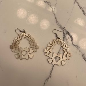 Noonday earrings. Ivory colored